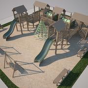 儿童游乐场丹 3d model