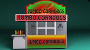Corn Dog Booth (1) 3d model