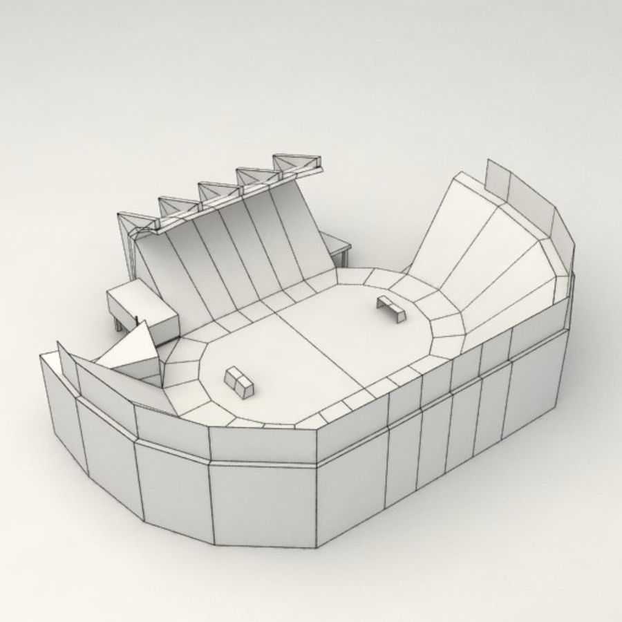 Low poly stadium royalty-free 3d model - Preview no. 6