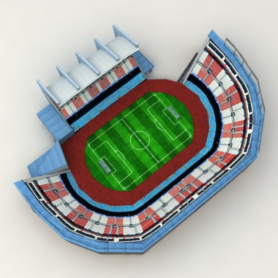 Low poly stadium royalty-free 3d model - Preview no. 5