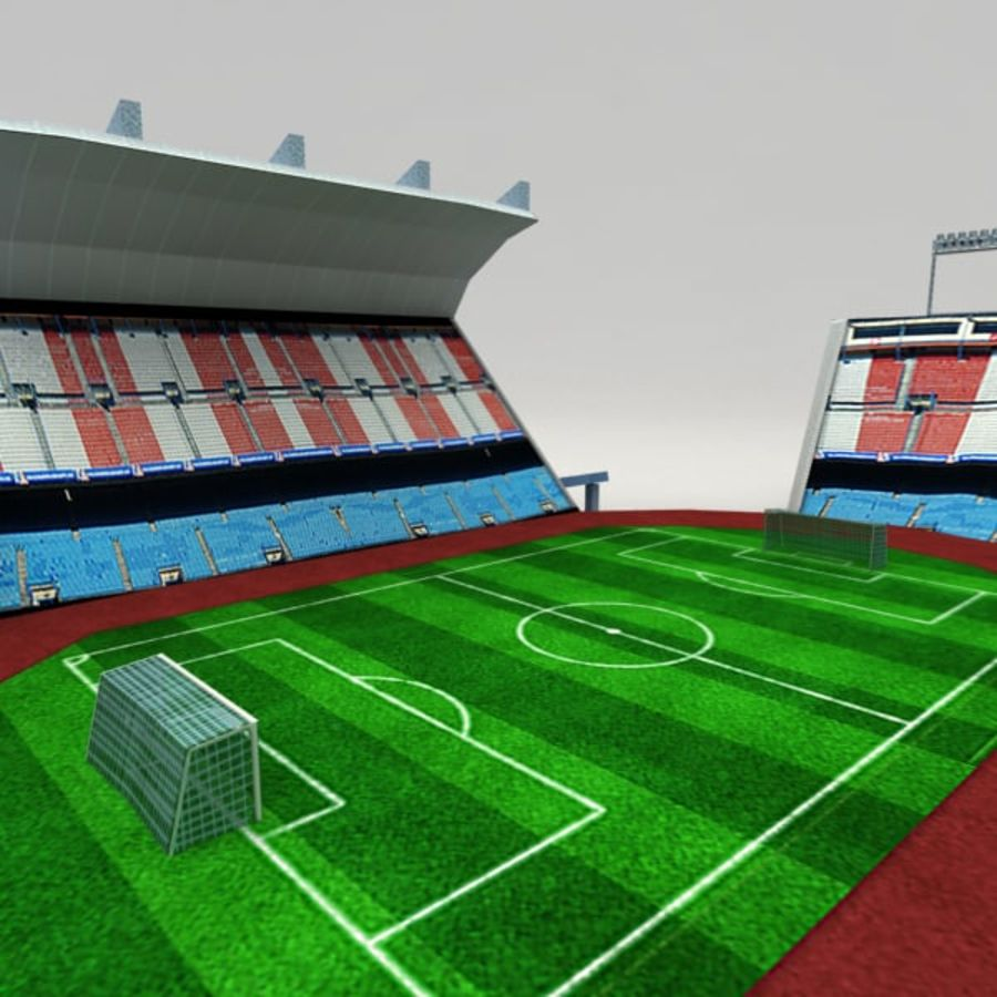 Low poly stadium royalty-free 3d model - Preview no. 4