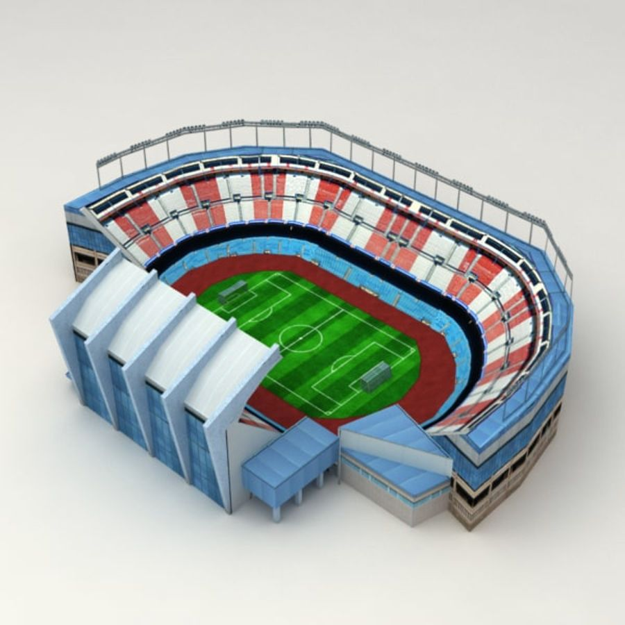 Low poly stadium royalty-free 3d model - Preview no. 2