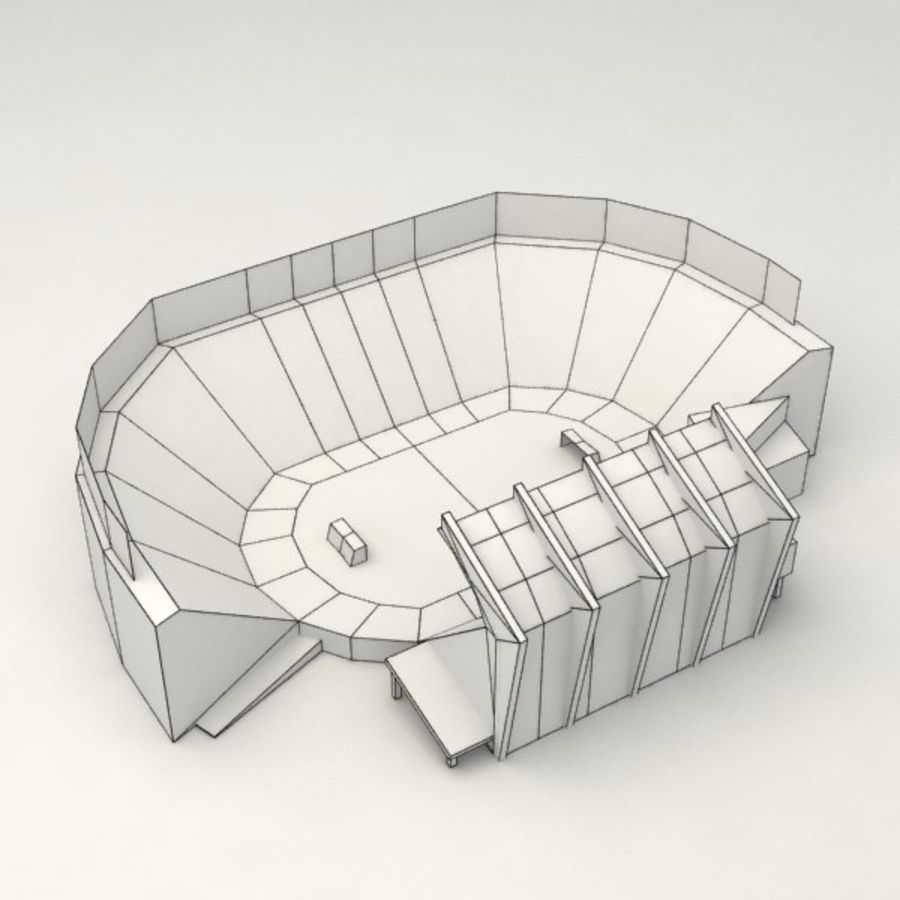 Low poly stadium royalty-free 3d model - Preview no. 7