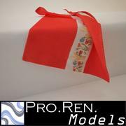 Havlu - Kırmızı 3d model