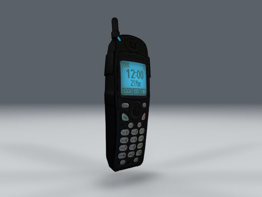 Telefone royalty-free 3d model - Preview no. 3