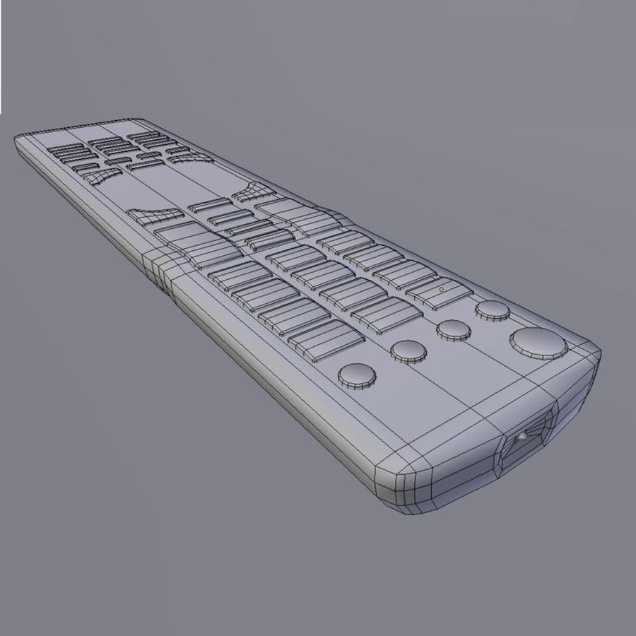LG TV Remote royalty-free 3d model - Preview no. 5