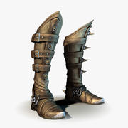 Fantasy Western Boots 3d model
