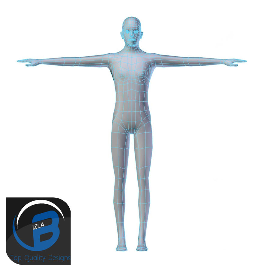Young Man Base Mesh LOW POLY royalty-free 3d model - Preview no. 1