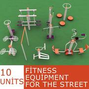 fitness equipment for the street 3d model