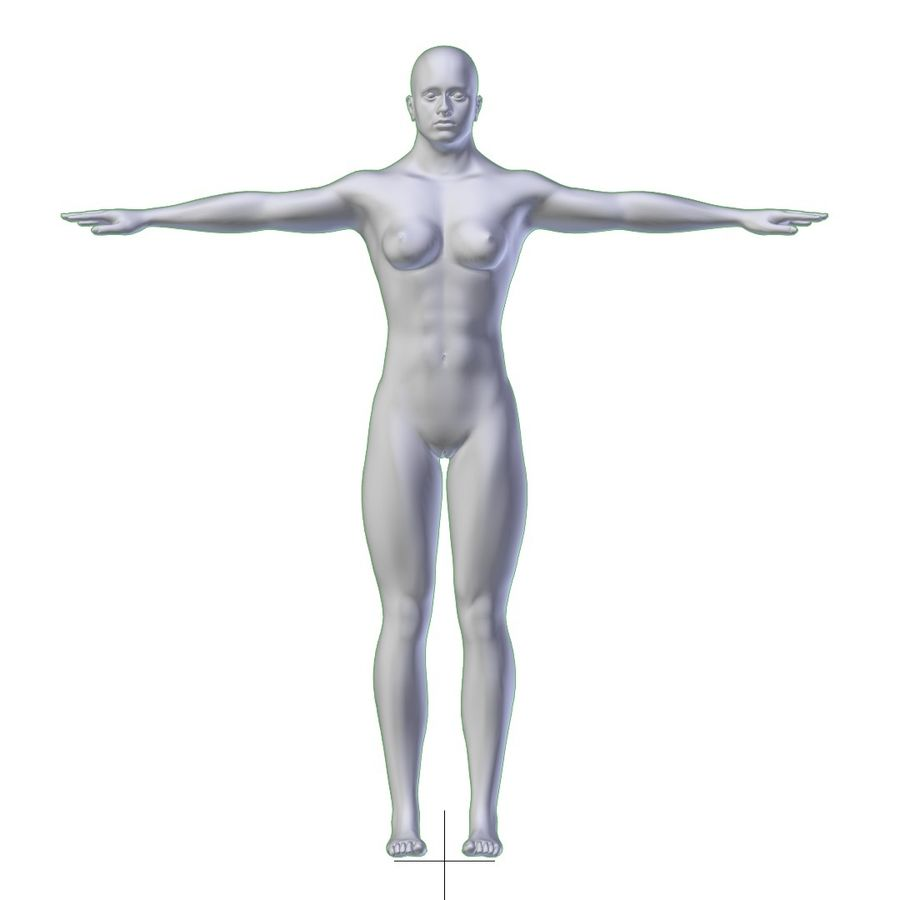 RIGGED Muscular Woman Base Mesh HIGH POLY royalty-free 3d model - Preview no. 8