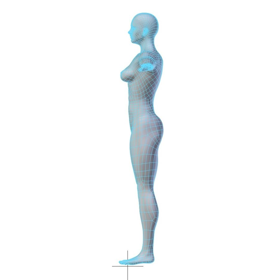 RIGGED Muscular Woman Base Mesh HIGH POLY royalty-free 3d model - Preview no. 11
