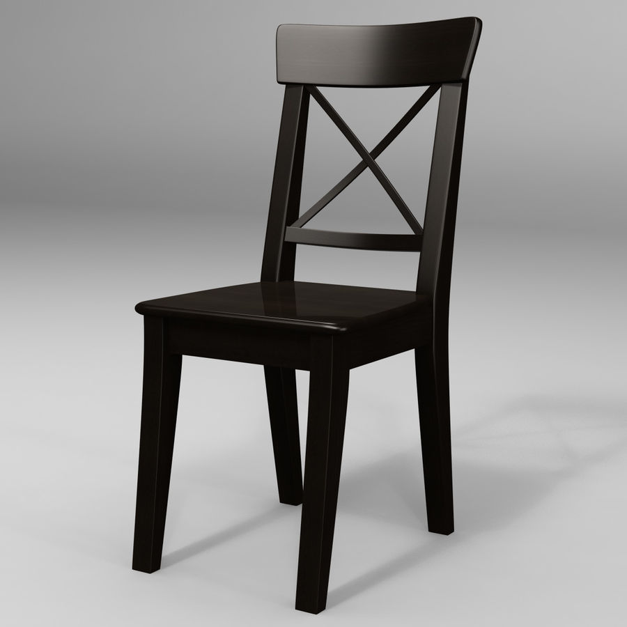Ingolf Chair Brown Black Royalty Free 3d Model   Preview No. 2
