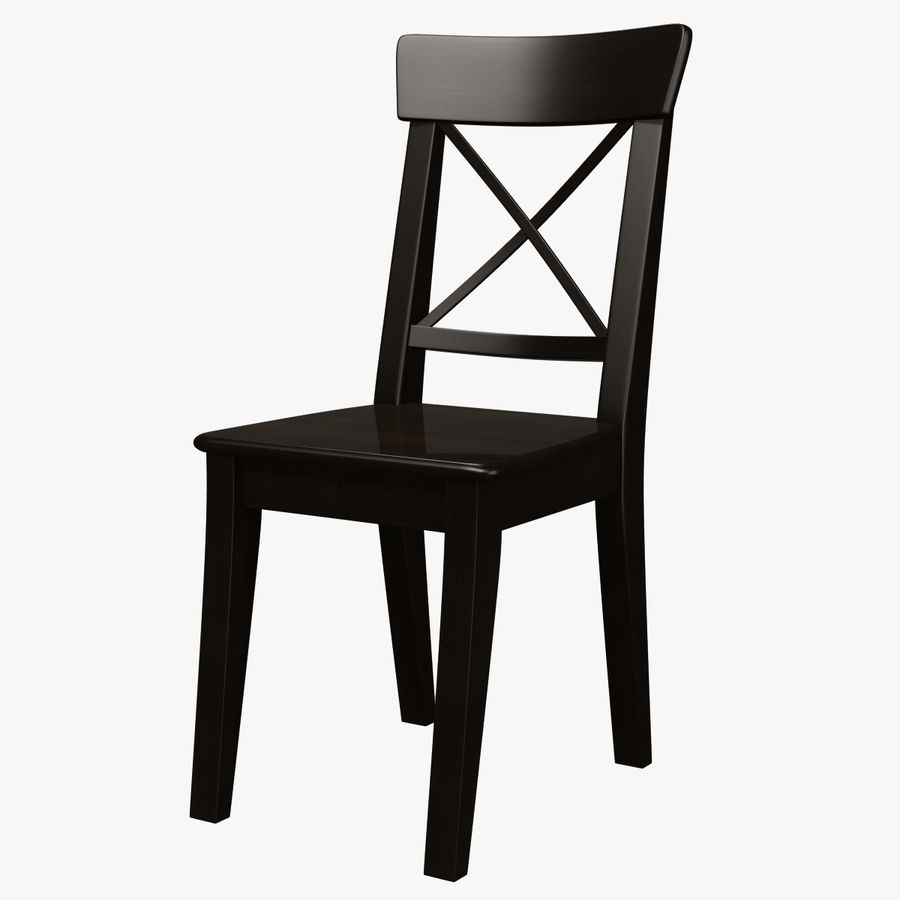 Ingolf Chair Brown Black Royalty Free 3d Model   Preview No. 1