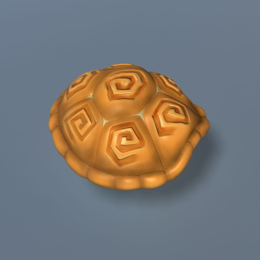 Toon Turtle royalty-free 3d model - Preview no. 7