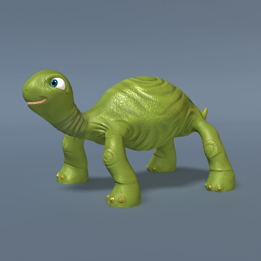 Toon Turtle royalty-free 3d model - Preview no. 5