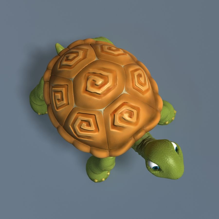 Toon Turtle royalty-free 3d model - Preview no. 4