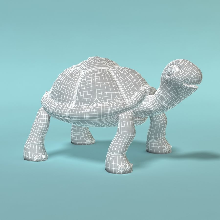 Toon Turtle royalty-free 3d model - Preview no. 11