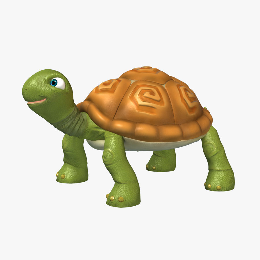 Toon Turtle royalty-free 3d model - Preview no. 1