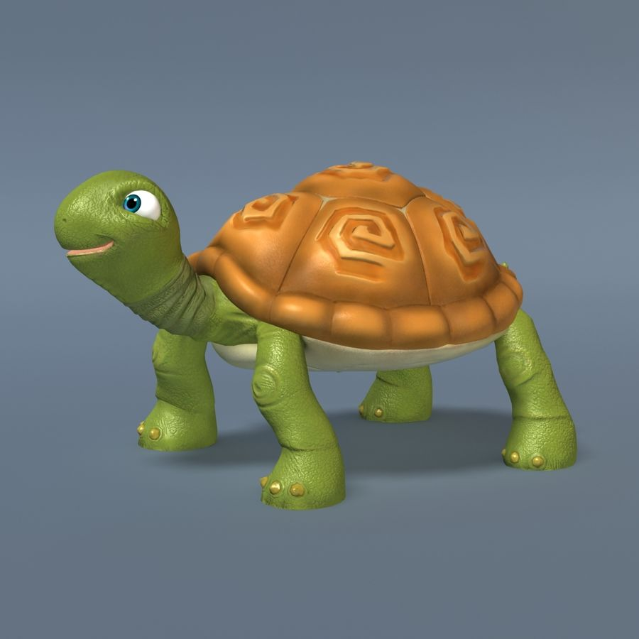 Toon Turtle royalty-free 3d model - Preview no. 2