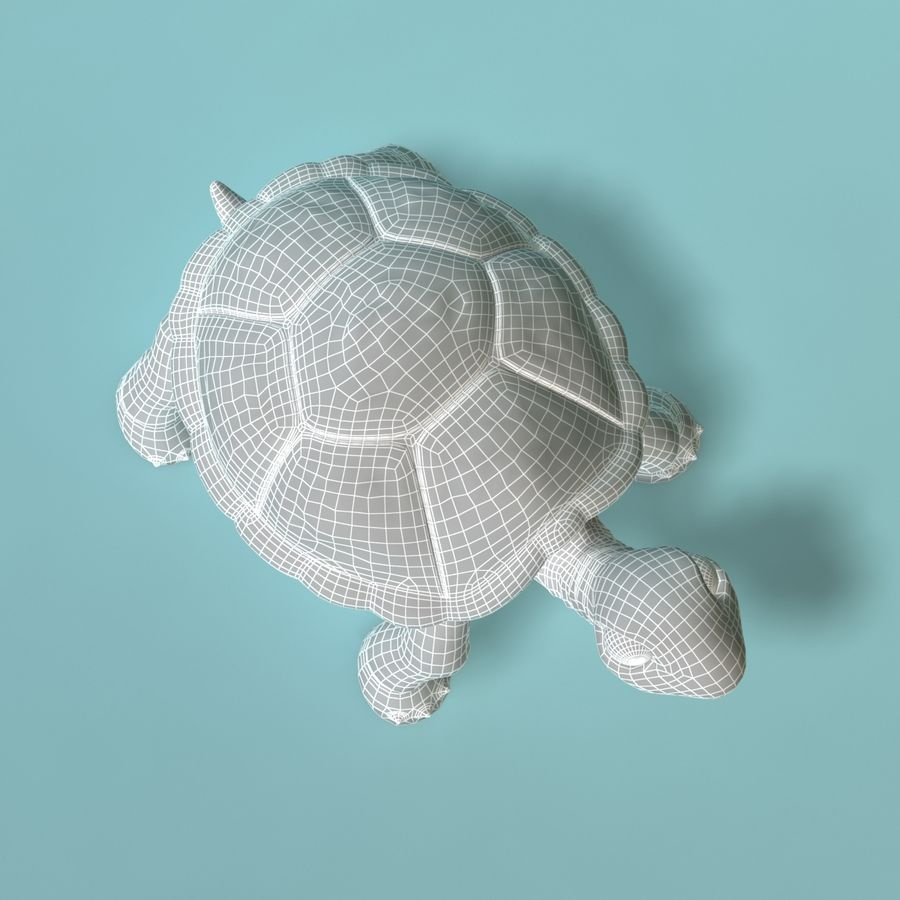 Toon Turtle royalty-free 3d model - Preview no. 12