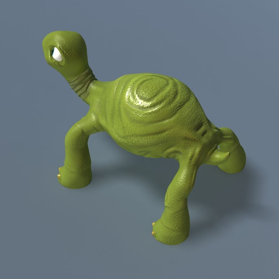 Toon Turtle royalty-free 3d model - Preview no. 8