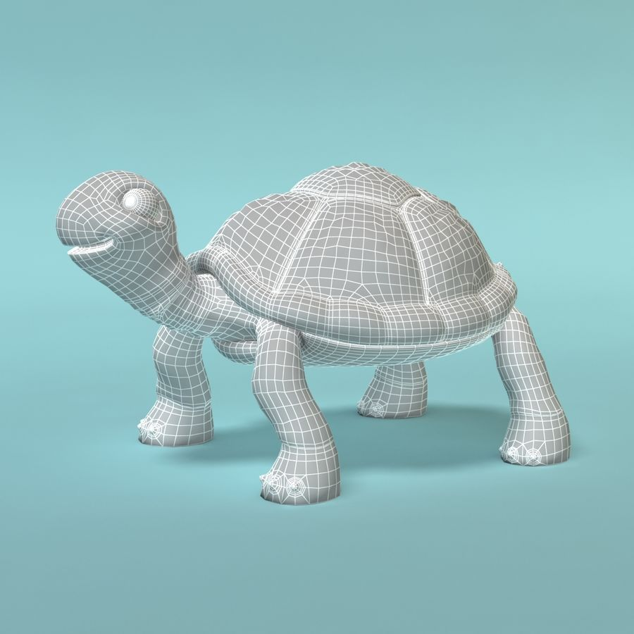 Toon Turtle royalty-free 3d model - Preview no. 10