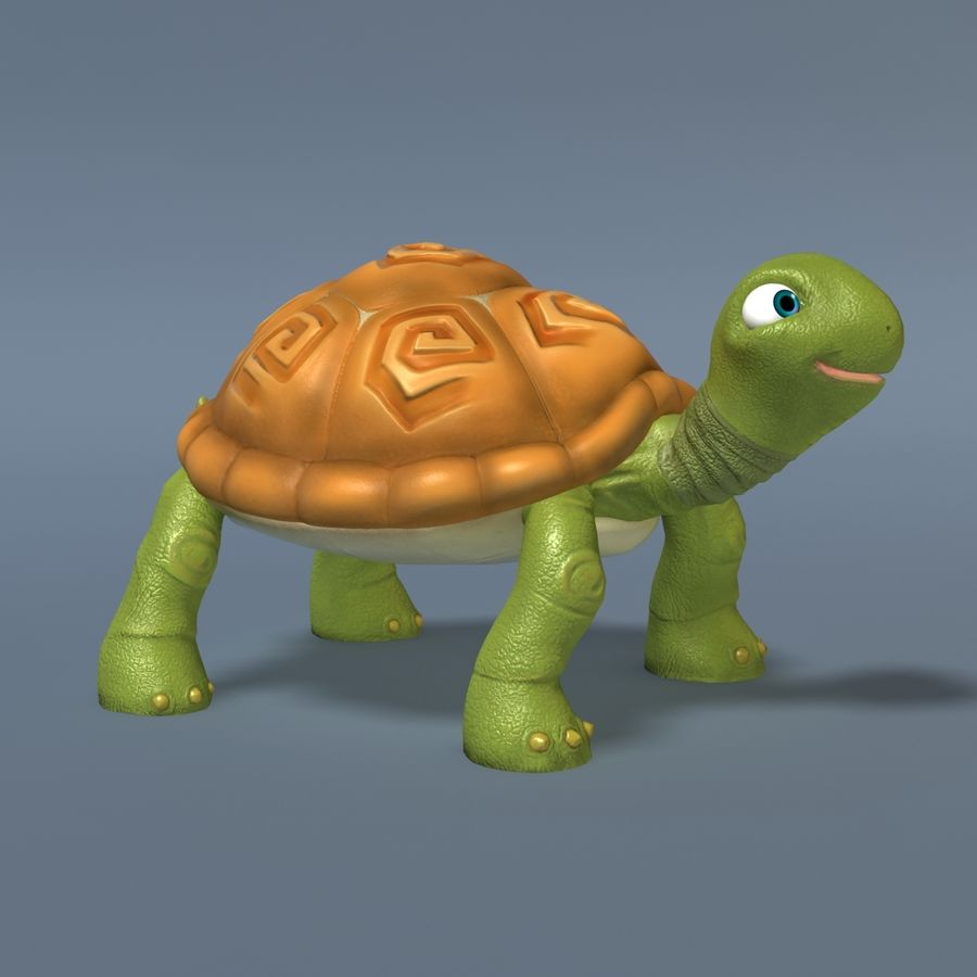 Toon Turtle royalty-free 3d model - Preview no. 3