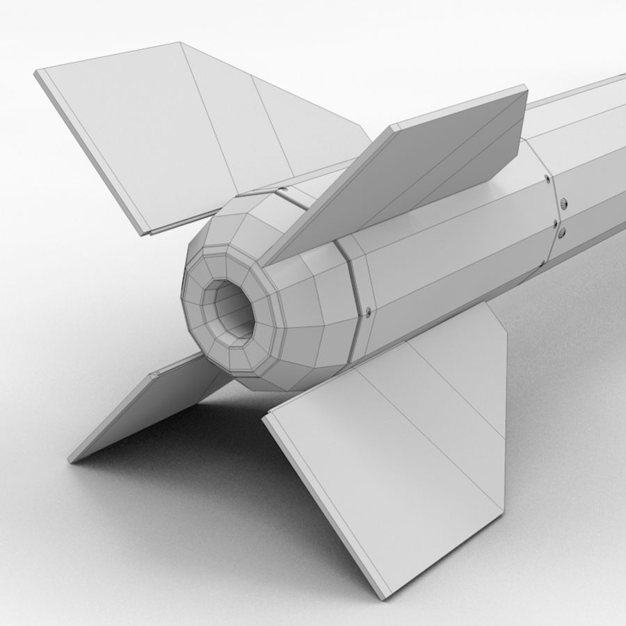 Ракета АИМ-120 royalty-free 3d model - Preview no. 11