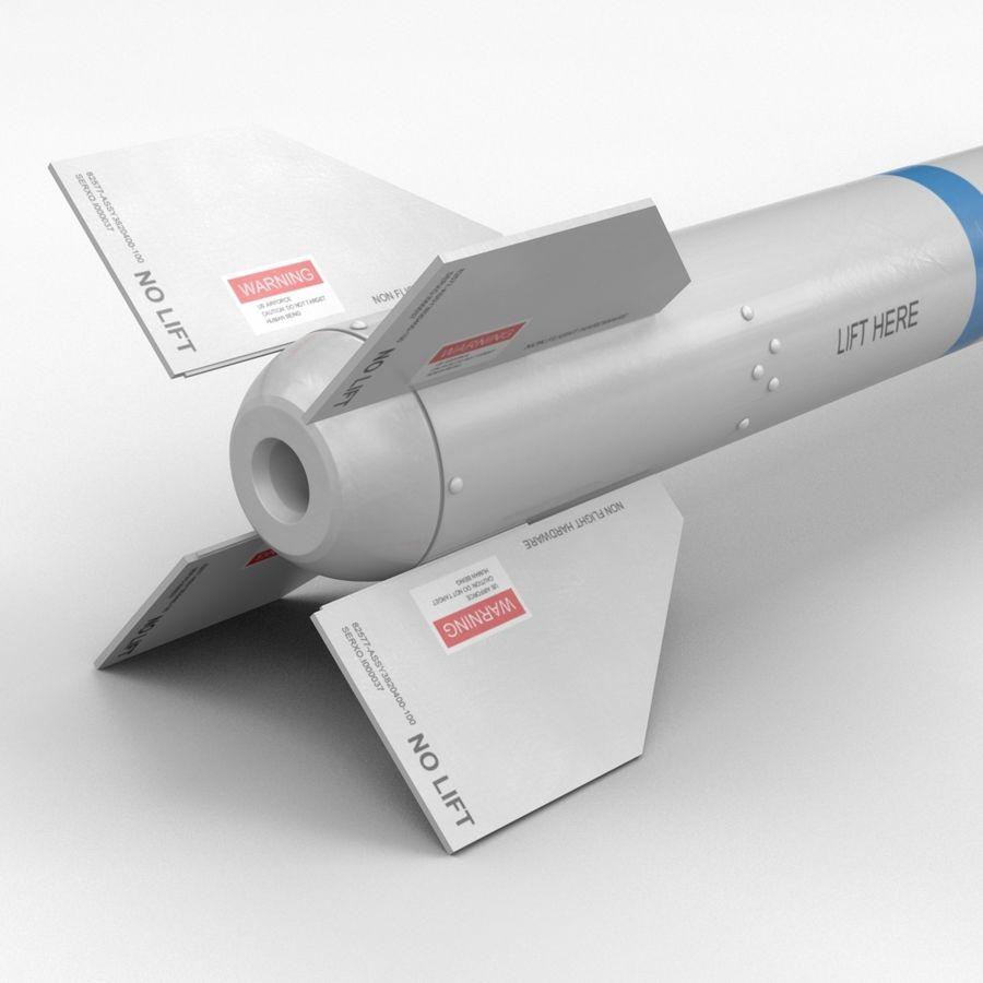 Ракета АИМ-120 royalty-free 3d model - Preview no. 8