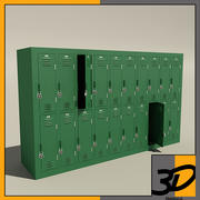 school locker 3d model