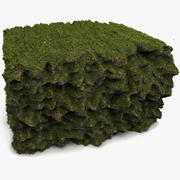 Grass Soil Cliff Reef 3d model