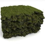 Grass Soil Cliff Reef 3d model