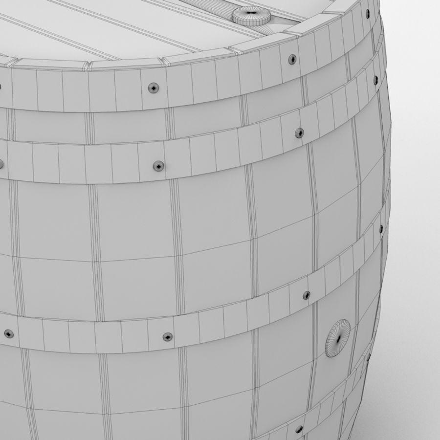 Keg of Black Powder royalty-free 3d model - Preview no. 7