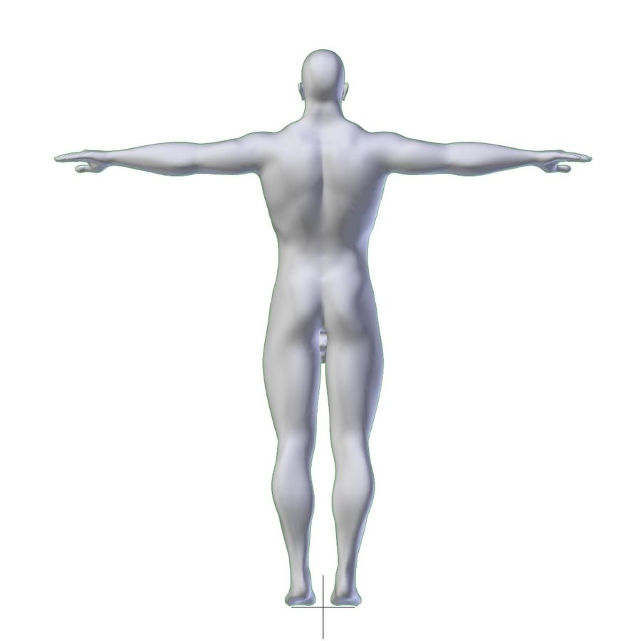 RIGGED Muscular Man Base Mesh HIGH POLY royalty-free 3d model - Preview no. 3