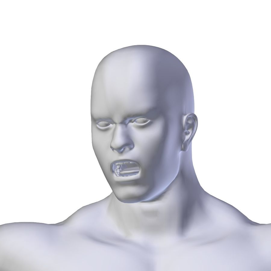 RIGGED Muscular Man Base Mesh HIGH POLY royalty-free 3d model - Preview no. 6
