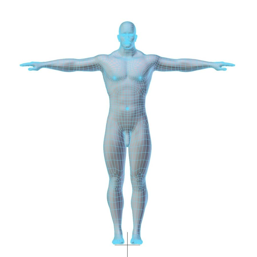 RIGGED Muscular Man Base Mesh HIGH POLY royalty-free 3d model - Preview no. 7