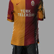 Soccer Kits - Animated (Galatasaray) 3d model