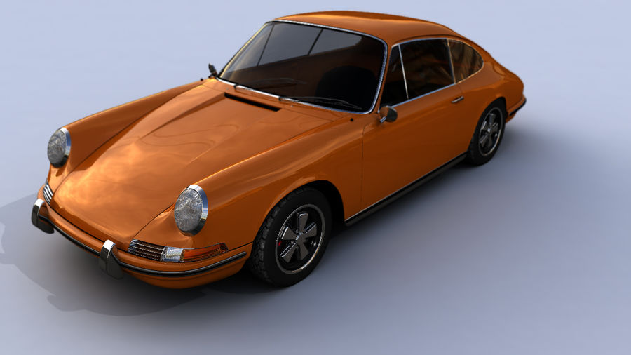 Porsche 911 royalty-free 3d model - Preview no. 1