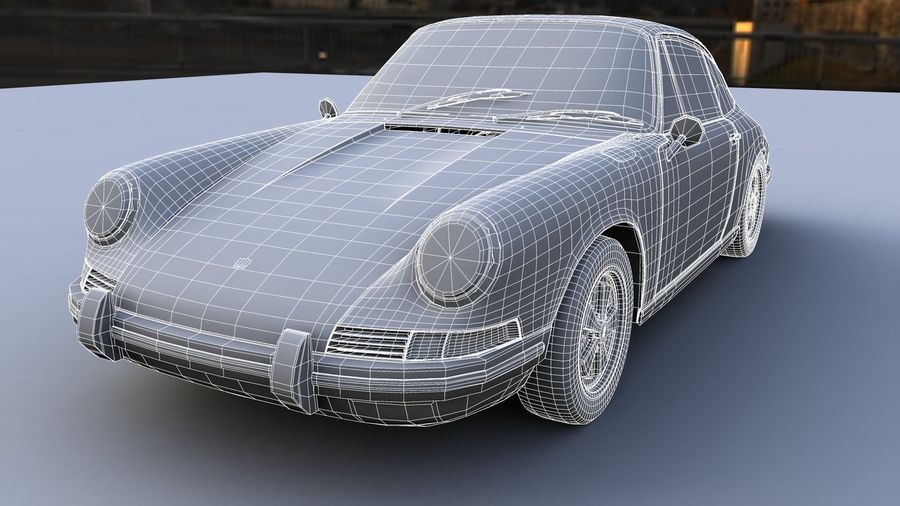Porsche 911 royalty-free 3d model - Preview no. 6