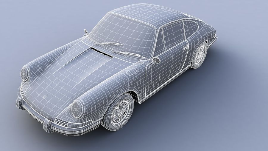 Porsche 911 royalty-free 3d model - Preview no. 3