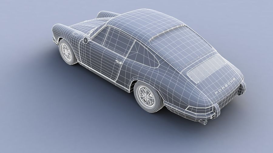 Porsche 911 royalty-free 3d model - Preview no. 4