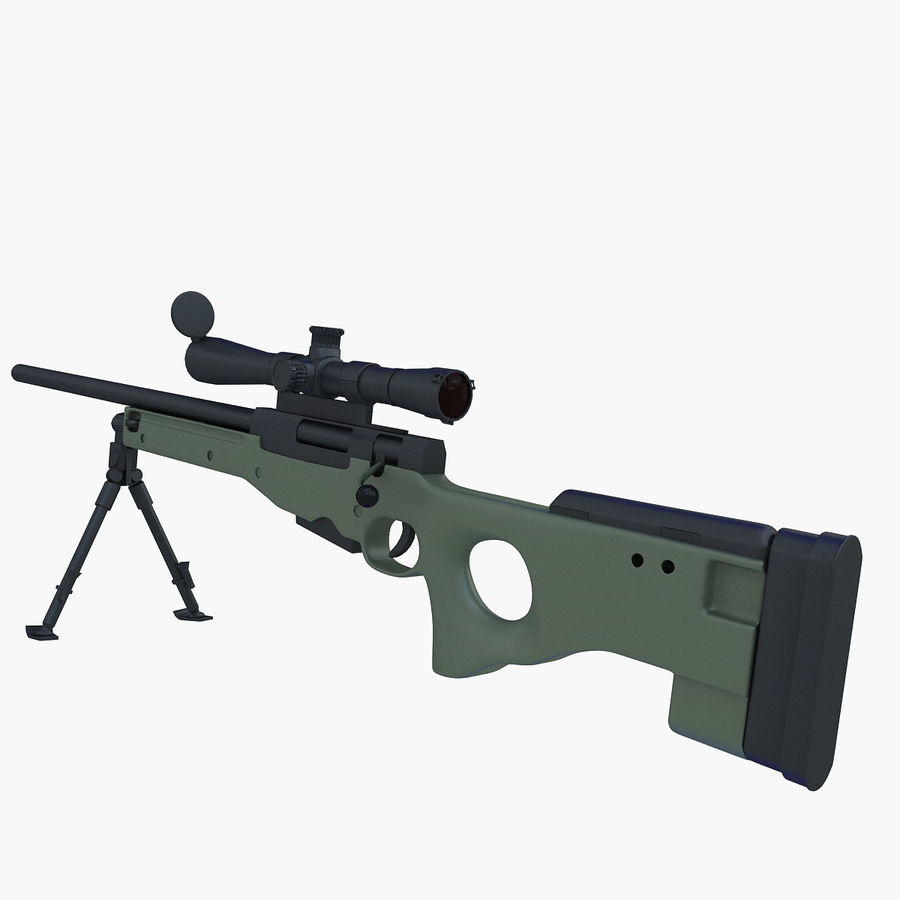Sniper royalty-free 3d model - Preview no. 13