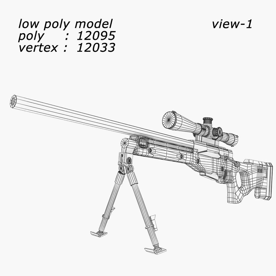 Sniper royalty-free 3d model - Preview no. 10