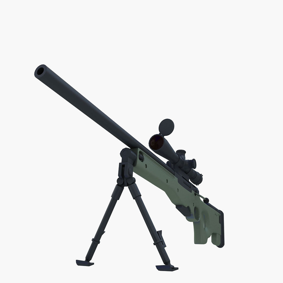 Sniper royalty-free 3d model - Preview no. 14