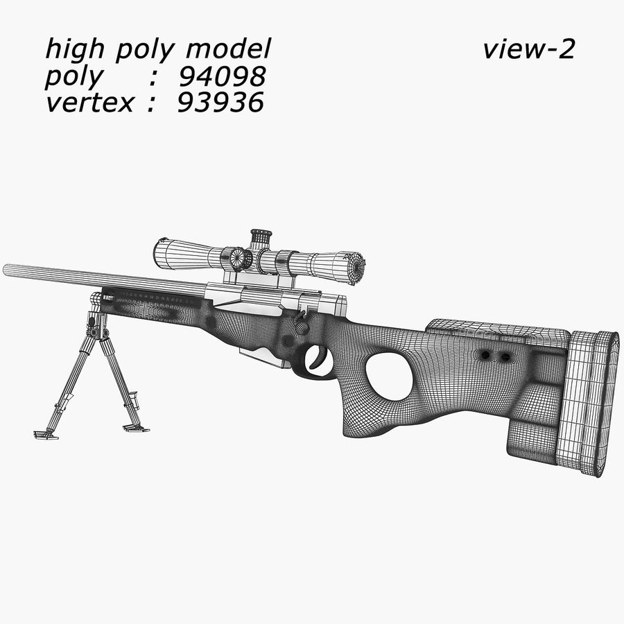 Sniper royalty-free 3d model - Preview no. 4