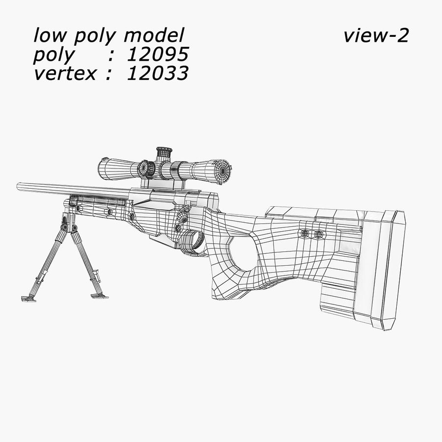 Sniper royalty-free 3d model - Preview no. 8