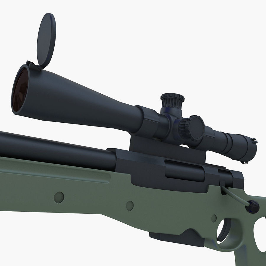 Sniper royalty-free 3d model - Preview no. 16