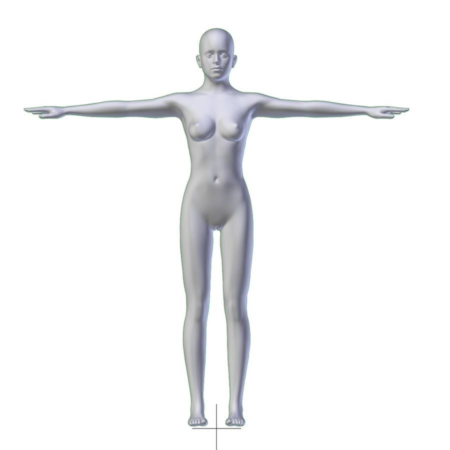 RIGGED Jeune Femme Maille Base HAUTE POLY royalty-free 3d model - Preview no. 8