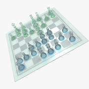 Glass Chess 3d model