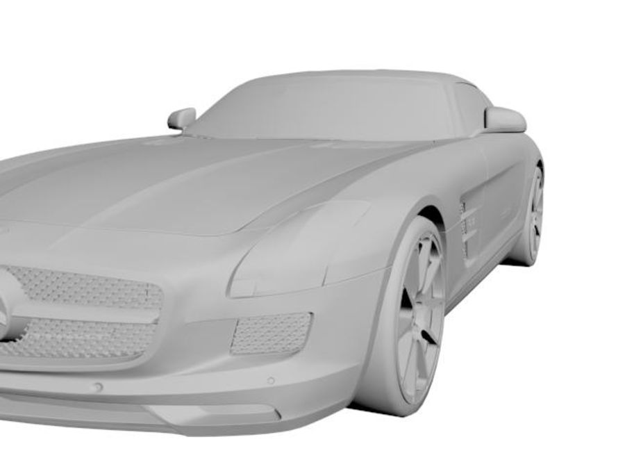 Merceds_SLS_AMG royalty-free 3d model - Preview no. 5